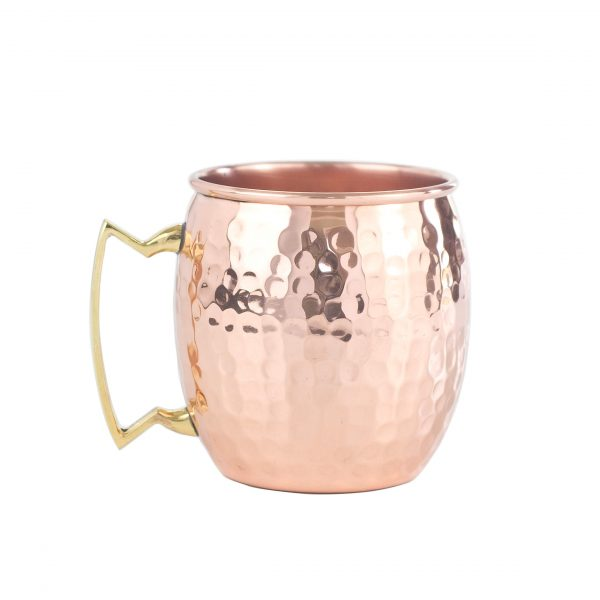 Hammered Custom Copper Mugs