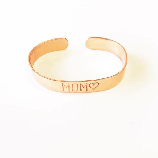Copper Cuff 'MoM' Bracelet